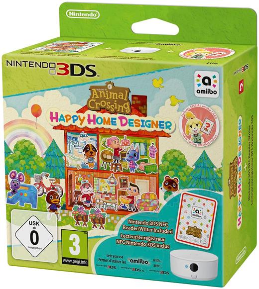 Nintendo Animal Crossing: Happy Home Designer + NFC Reader/Writer + amiibo Cards Series 1 Pack