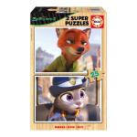 Disney Zootropolis 2 Super Nick Wilde & Officer Judy Hopps 25pcs Wooden Jigsaw Puzzles (16803)