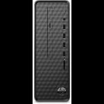 HP Slim Desktop S01-af1132a 10th gen Intel® Core™ i3 i3-10100 8 GB DDR4-SDRAM 256 GB SSD Mini Tower Black PC Windows 10 Home