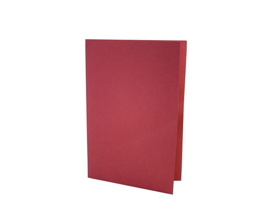 Exacompta Value Square Cut Folder LightWeight Foolscap Red PK100