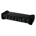 Digitus Dual VGA Combo, 4-port Black KVM switch
