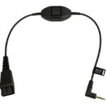 Jabra 8800-00-55 audio kabel 0,3 m QD 2.5mm jack Zwart