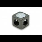 EK Water Blocks EK-AF X-Splitter 4F G1/4 Black, Nickel