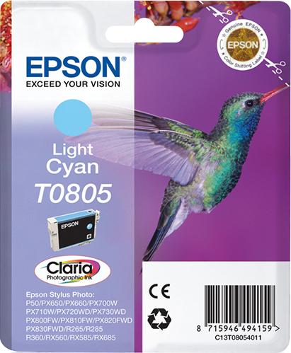 Epson Hummingbird Cartucho T0805 cian claro