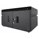 Manhattan Charging Cabinet 20 Unit (360W), Desktop, x20 USB-C ports, Power Delivery 3A/18W per port - 360W total, Suitable for tablets/phones, Spacious bays 345x22x235mm, Device charging cables not included, Surge Protection, Silent Ventilation, Lockable