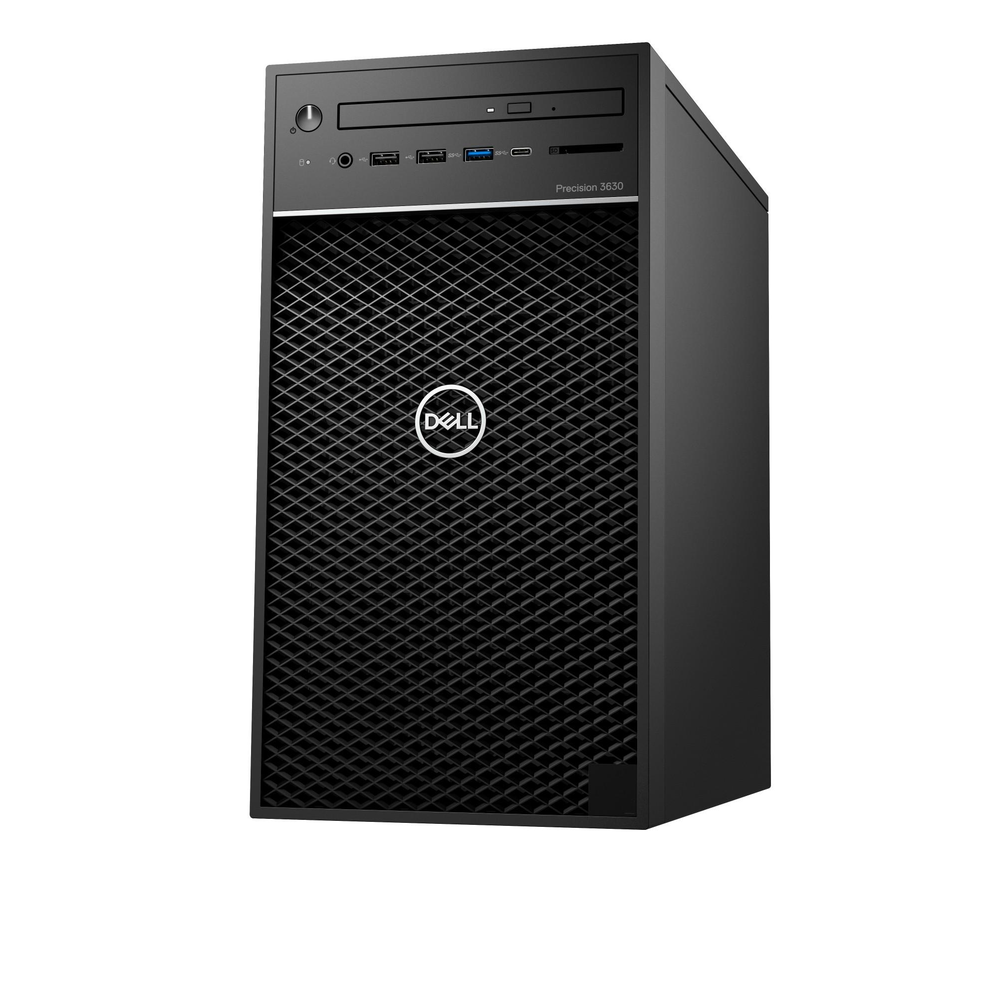 DELL Precision 3630 9th gen Intel® Core™ i7 i7-9700 8 GB DDR4-SDRAM 256 GB SSD Tower Black PC Windows 10 Pro