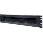 """Intellinet 19"""" Cable Entry Panel, 2U, with Brush Insert, Black"""