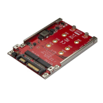 "StarTech.com Dual-Slot M.2 Drive to SATA Adapter for 2.5"" Drive Bay - RAID"