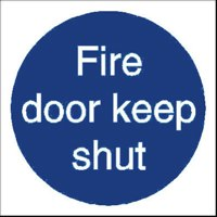 Stewart Superior Fire Door Keep Shut Sign
