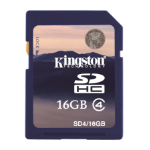 Kingston Technology 16GB SDHC Card 16GB SDHC Flash Class 4 memory card SD4/16GB