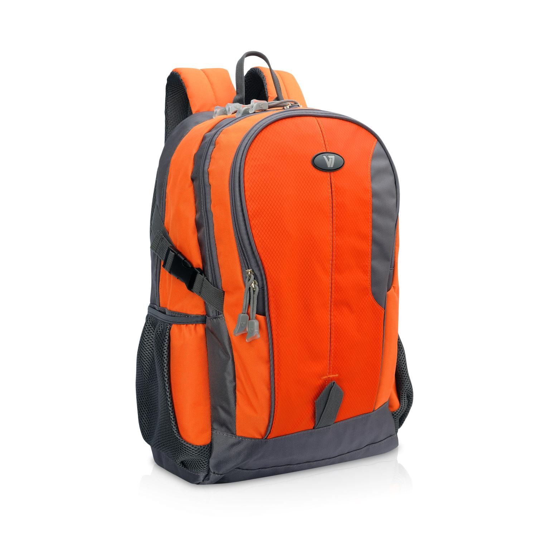 """V7 CBEX1A-ORG-1E notebooktas 39,6 cm (15.6"""") Rugzakhouder Grijs, Oranje"""