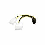 Akasa AK-CB4-6 cable interface/gender adapter 4-pin PCIe