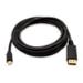 V7 Mini-DisplayPort (m) de 3 m a DisplayPort (m) - Color negro