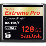 Sandisk 128GB Extreme Pro CF 160MB/s memory card CompactFlash