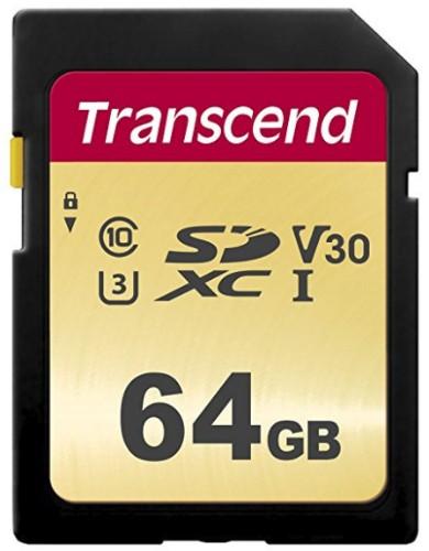 Transcend 64GB, UHS-I, SD 64GB SD UHS-I Class 10 memory card