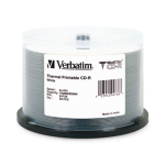 Verbatim MediDisc CD-R 80MIN 700MB 52X White Thermal Printable 50pk Spindle 50 pcs