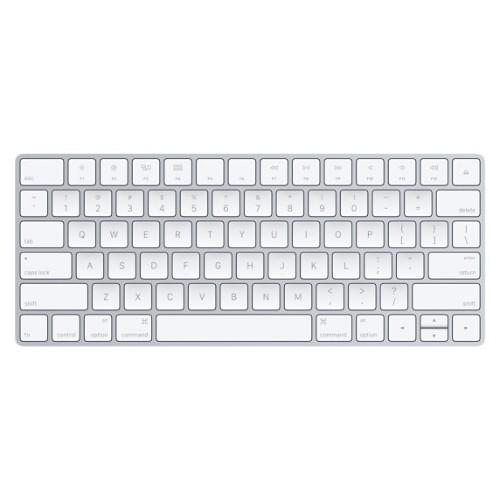 Apple MLA22LB/A Bluetooth QWERTY US English Silver, White keyboard