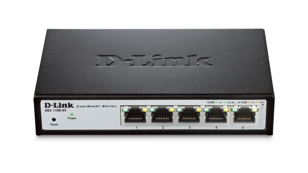 D-Link DGS-1100-05 Managed L2 Gigabit Ethernet (10/100/1000) Black,Grey