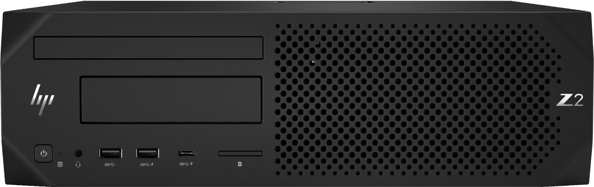 HP Z2 G4 9na generación de procesadores Intel® Core™ i7 i7-9700 16 GB DDR4-SDRAM 256 GB SSD SFF Negro Puesto de trabajo Windows 10 Pro