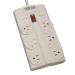 Tripp Lite TLP808 8AC outlet(s) 120V 2.43m Grey surge protector