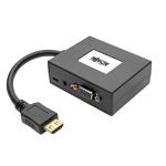 Tripp Lite 2-Port HDMI to VGA + Audio Adapter / Splitter, 1920 x 1440 (1080p)