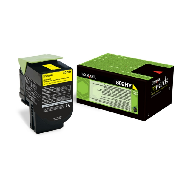 Lexmark 80C2HY0 (802HY) Toner yellow, 3K pages