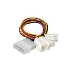 Akasa AK-CB001 4 x 3-pin 4-Pin Molex Multicolour cable interface/gender adapter