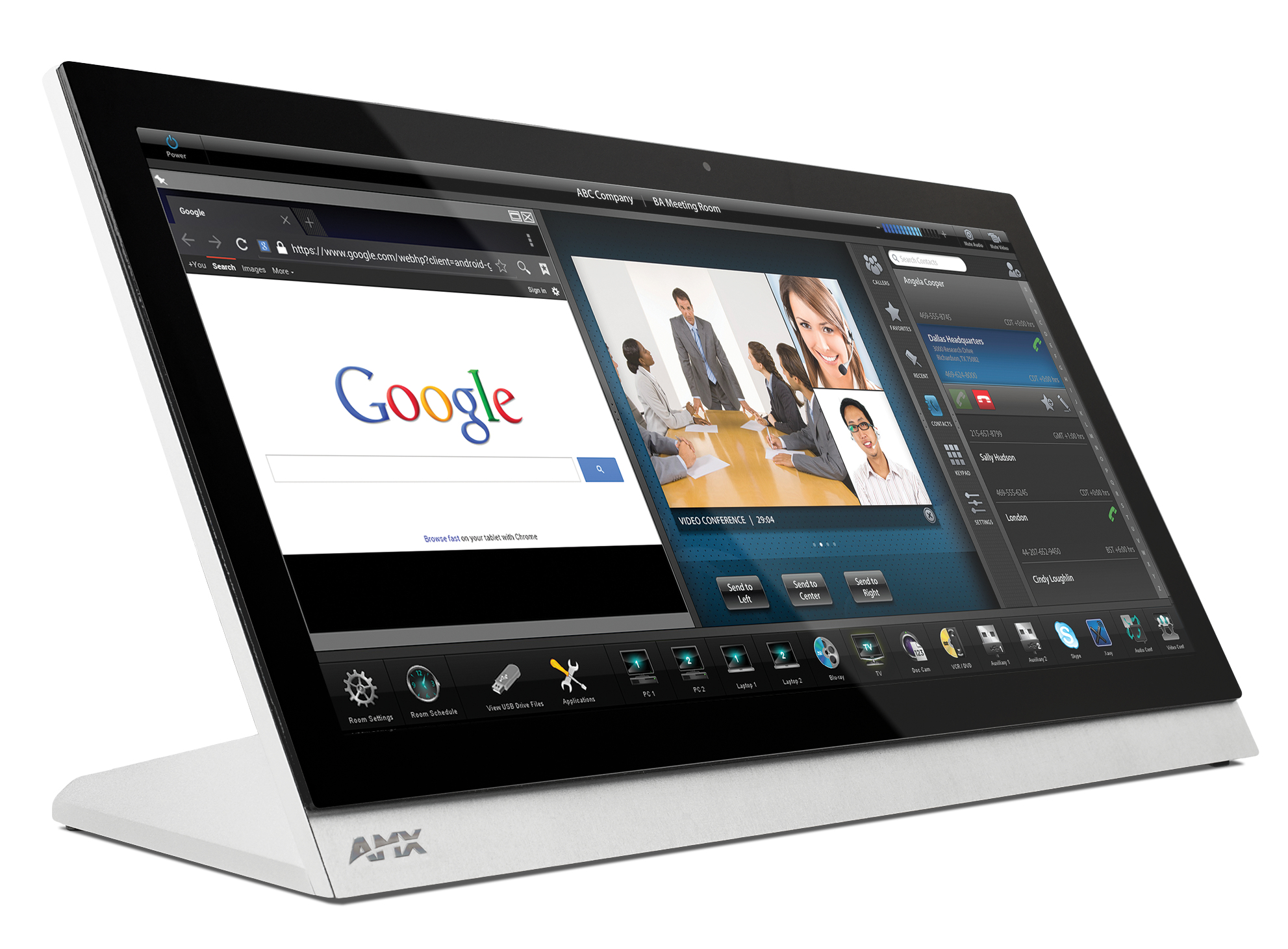 "AMX MXT-2001-PAN touch screen monitor 51.6 cm (20.3"") 1920 x 800 pixels Tabletop"