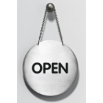 Durable Omdraaipicto Open/Closed Silver