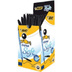BIC Cristal Soft Black Stick ballpoint pen Medium 50 pc(s)