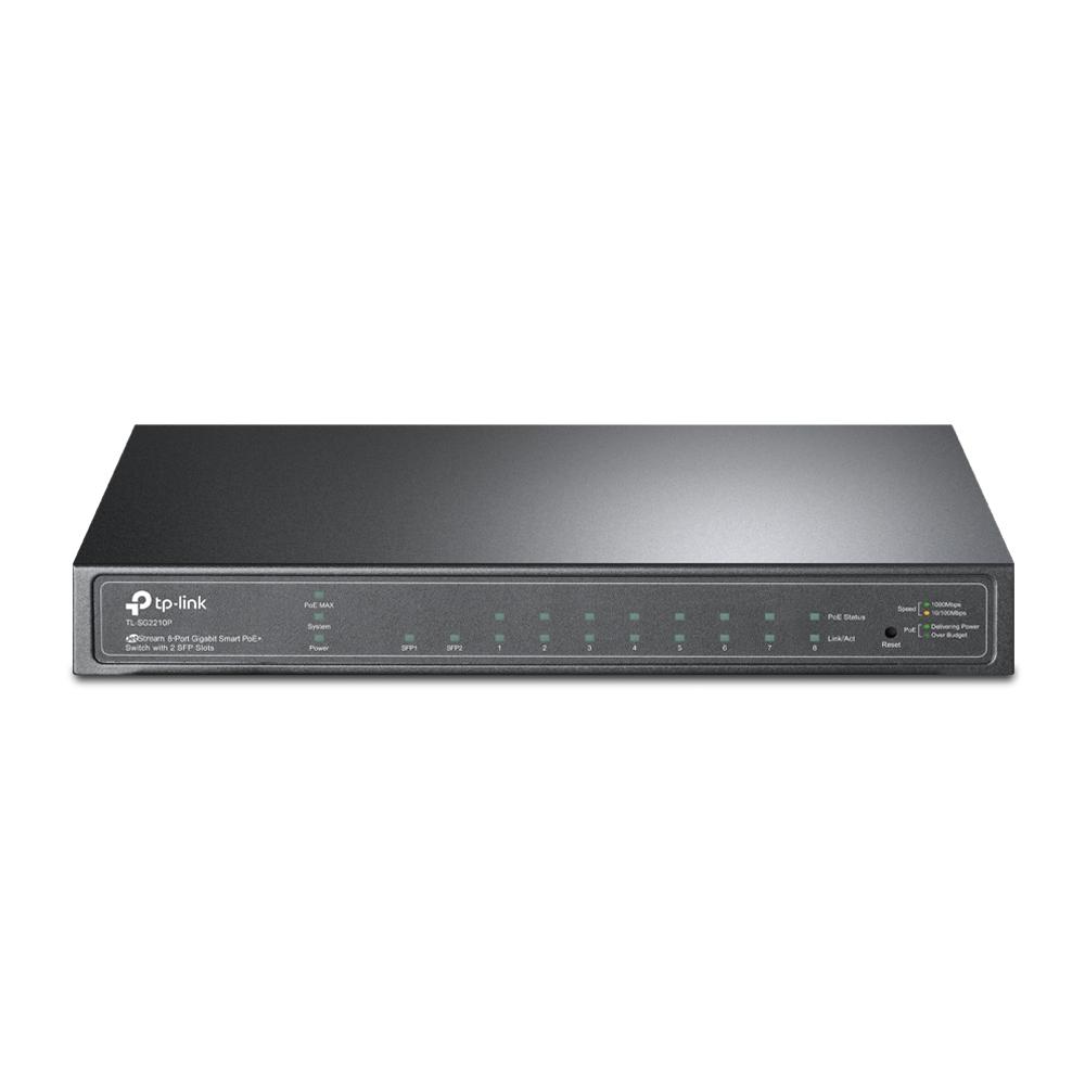 TP-LINK TL-SG2210P Gestionado L2 Gigabit Ethernet (10/100/1000) Negro Energía sobre Ethernet (PoE)