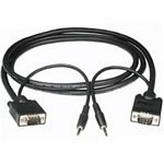 C2G 3m Monitor Cable + 3.5mm Audio