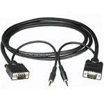 C2G 3m Monitor Cable + 3.5mm Audio 3m VGA (D-Sub) + 3.5mm VGA (D-Sub) + 3.5mm Black