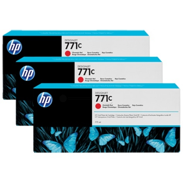 HP B6Y32A (771C) Ink cartridge red, 775ml, Pack qty 3