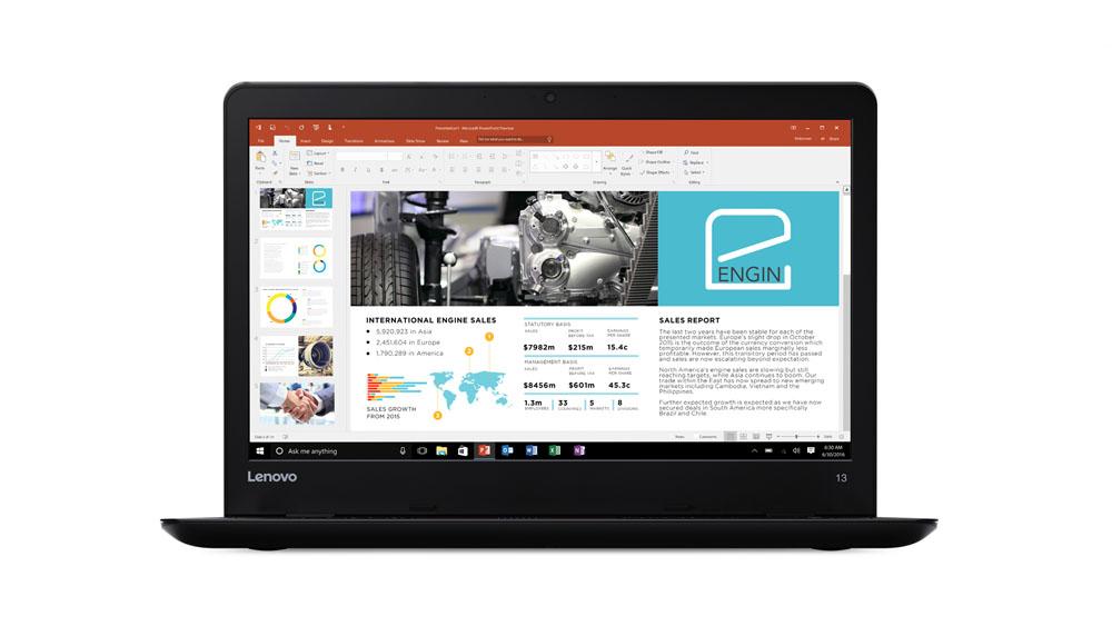 "Lenovo ThinkPad 13 2.40GHz i3-7100U 13.3"" 1920 x 1080pixels Black Notebook"