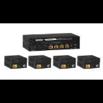 KanexPro SP-HDPOC1X4 AV extender AV transmitter & receiver Black