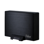 "Inter-Tech Veloce GD-35612 3.5"" Black USB powered"