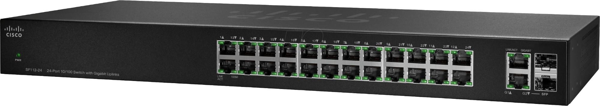 Cisco SF112-24 Unmanaged network switch L2 Fast Ethernet (10/100) 1U Black