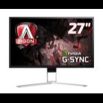 """AOC Gaming AG271QG pantalla para PC 68,6 cm (27"""") Quad HD LED Plana Negro, Rojo"""