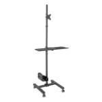 "Tripp Lite Mobile Workstation with Monitor Mount - For 17"" to 32"" Displays, Height Adjustable"
