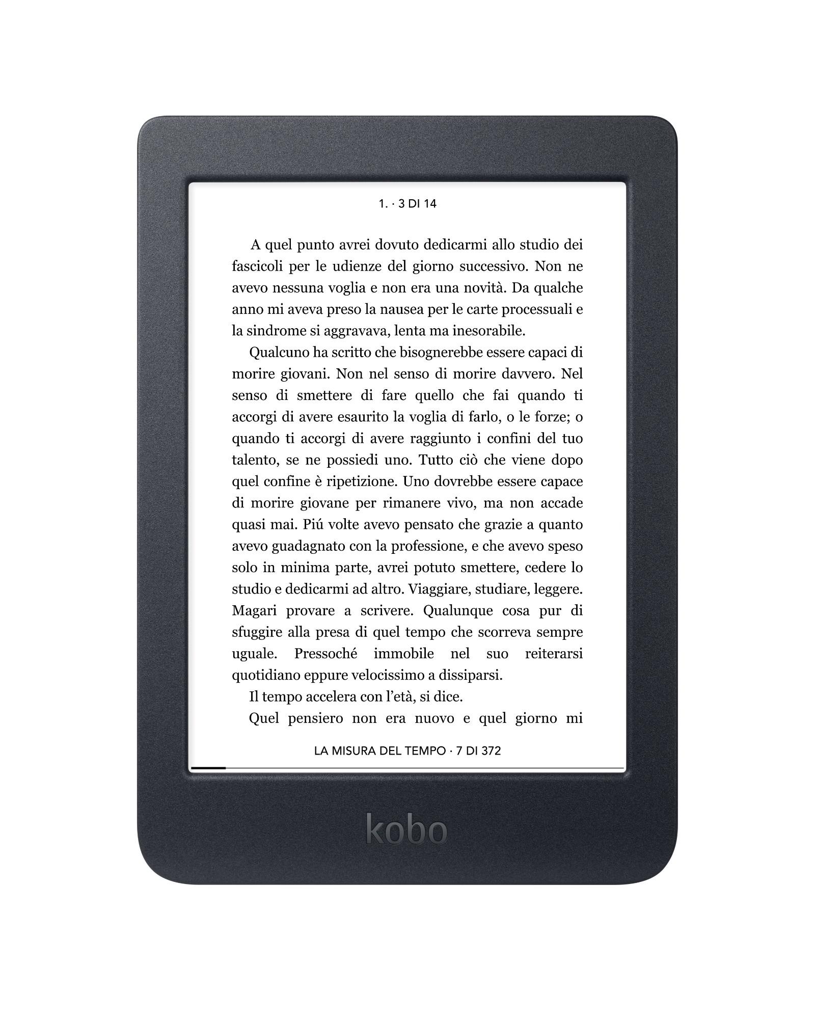 Rakuten Kobo Nia lectore de e-book Pantalla táctil 8 GB Wifi Negro