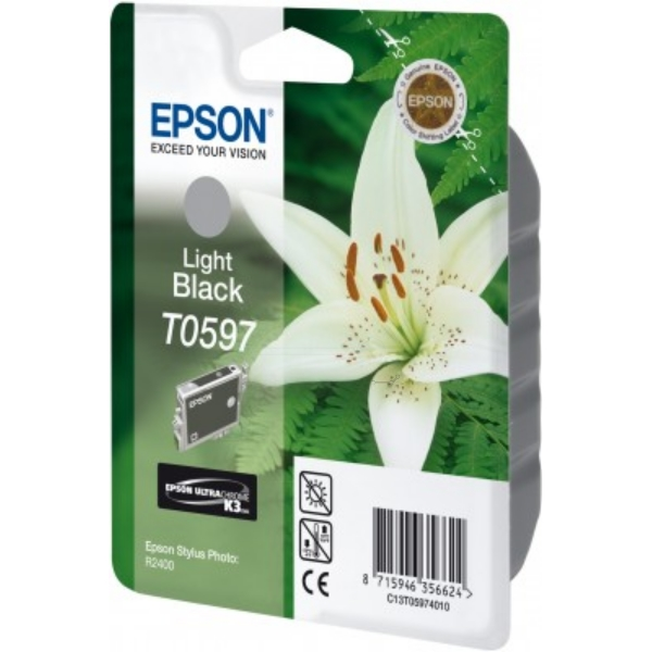 Epson C13T05974010 (T0597) Ink cartridge bright black, 520 pages, 13ml