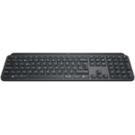 Logitech MX Keys Tastatur RF Wireless + Bluetooth QWERTZ Schweiz Schwarz