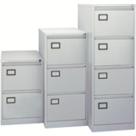 Jemini 4 Drawer Filing Cabinet Light Grey KF20044