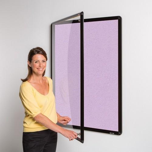 Metroplan Shield Design insert notice board Indoor Black, Lilac Aluminium