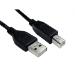 Cables Direct 99CDL2-102 USB cable 2 m 2.0 USB A USB B Black