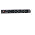 Eaton PS6TD limitador de tensión 6 salidas AC 220 - 250 V Negro, Blanco 1 m