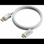 Vision DisplayPort - HDMI, 1m DisplayPort HDMI White cable interface/gender adapter