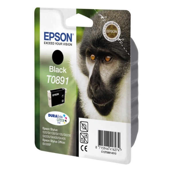 Epson C13T08914011 (T0891) Ink cartridge black, 170 pages, 6ml