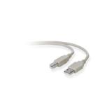 Belkin USB A/B 3m USB cable USB 2.0 USB B Grey